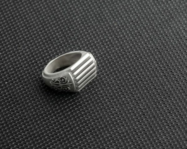 """The """"Stout"""" 14mm Wide/Large Band Solid Sterling Silver Ring. Unique men's ring. Lost wax casted and Handcrafted. Striking statement piece - JustArtisan - DJBSTUDIO - Handmade"""