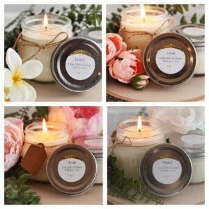Soy Candle Set, Mason Jar Candle, Floral Candle, 4 oz Candle - Garden of Grace - JustArtisan - Little Gifts of Grace -
