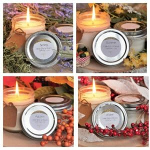 Soy Candle Set, Mason Jar Candle, Christmas Candle, Floral Scented, 8 oz Candle, 4 oz Candle - Year of Grace - JustArtisan - Little Gifts of Grace -