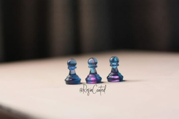 Small Galaxy-Starry Sky Chess Set (16 Pieces-Without Board) - Custom Resin Chess Pieces - Handmade Resin Chess Figurines - Gift Idea For Chess Players - JustArtisan - ResinCoated -