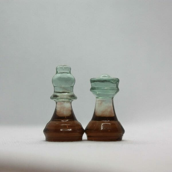 Small Earth Resin Chess Set (Without Board) - Custom Resin Chess Pieces - Handmade Resin Chess Figurines - Gift Idea For Chess Player - JustArtisan - ResinCoated -