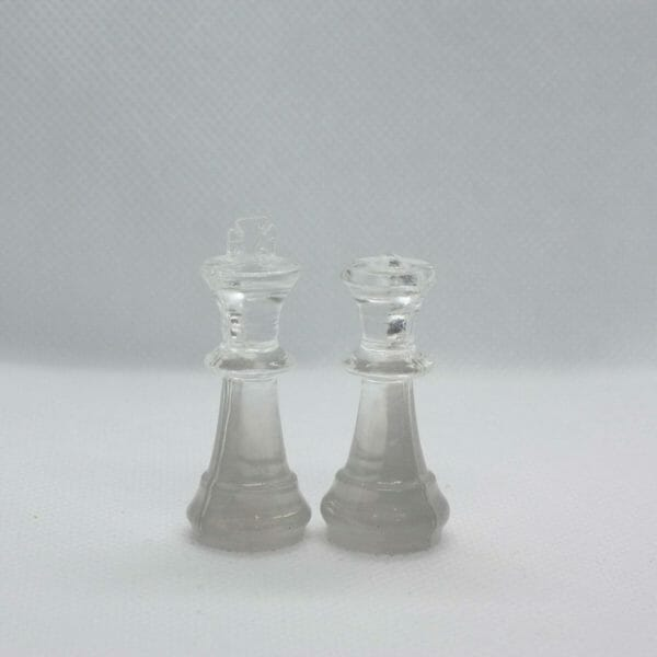 Small Air Resin Chess Set (Without Board) - Custom Resin Chess Pieces - Handmade Resin Chess Figurines - Gift Idea For Chess Player - JustArtisan - ResinCoated -