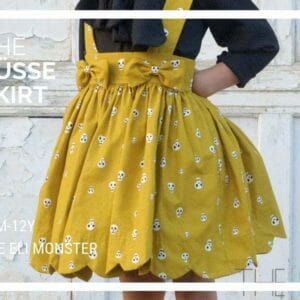 Scalloped Skirt Sewing Pattern - The Süsse Skirt for sizes 12m to 12y - JustArtisan - The Eli Monster -