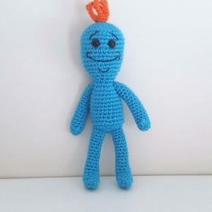 Rick and Morty Mr Meeseeks - JustArtisan - Two Bobs In A Pod - Handmade