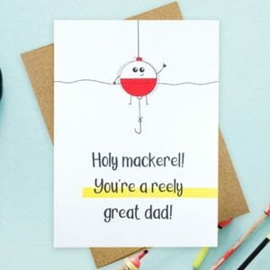 Reely Great Greeting Card For Dad - JustArtisan - Hello Mosswood - Handmade