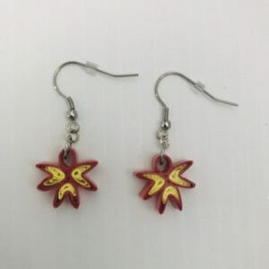 Red and Yellow Quilled earrings - JustArtisan - JGaw Craft-y-Arts - Handmade