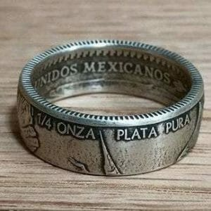 Quarter Ounce Mexican Libertad Coin Ring - JustArtisan - Top Quality Coin Rings -