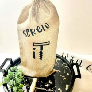 Personalized Wine Tote - Screw It with charm - JustArtisan - Bhavingfinds -