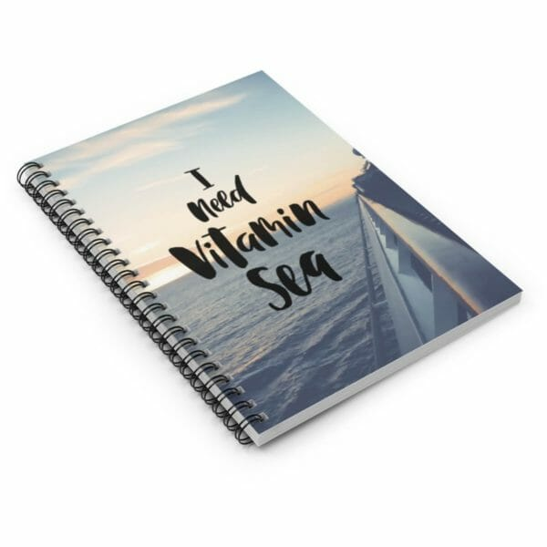 Ocean Themed Spiral Notebook, Ruled Line, Travel Journals, Writing Journal, Cruise Themed, Student Notebook, Goal Journal, Spiral Notebook - JustArtisan - Compass and a Camera - Handmade