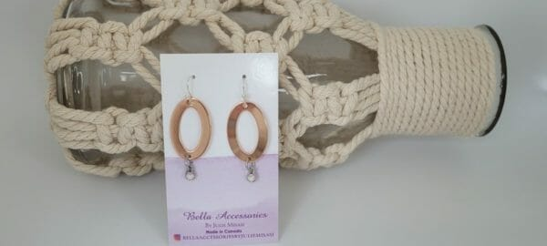 O Earrings in Rose Gold and Silver - JustArtisan - Bella Accessories -