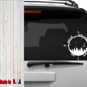 Not All who wander are lost Decal - JustArtisan - Poppy Place -