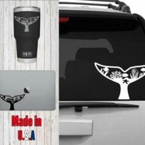 Nature Scene Whale Tail Decal - JustArtisan - Poppy Place -