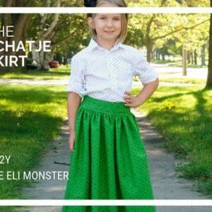 Maxi, Midi and Knee Length Skirt Sewing Pattern, The Schatje Skirt, 1Y to 12Y - JustArtisan - The Eli Monster -