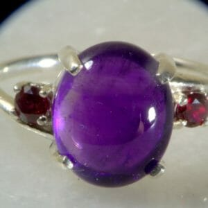 Large Accented Amethyst Ring. - JustArtisan - Mat's Machinations -