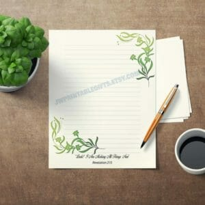 JW Letter Writing Paper Perfect for Self Isolation. This is an DIY Instant Download JW Gift Leaf Design, jw gift, jw org - JustArtisan - JW Printable Gifts -