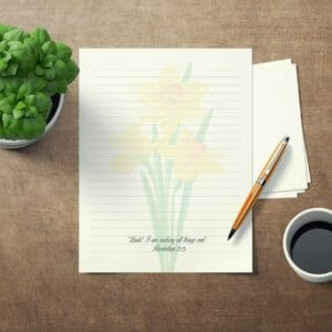 JW Letter Writing Paper Perfect for Self Isolation. This is an DIY Instant Download JW Gift Daffodil, jw gift, jw org, jw present, jw gifts - JustArtisan - JW Printable Gifts -