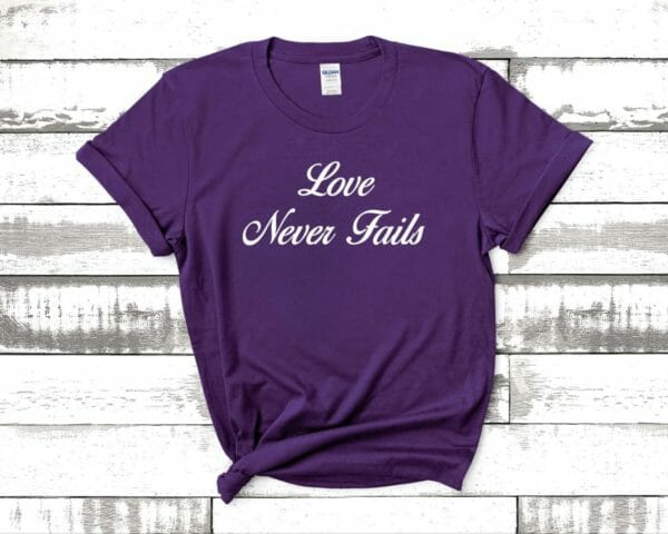 JW Gift T Shirt Love Never Fails | JW org | Jehovah's Witnesses Gift Idea | JW Baptism Gift | jw Pioneer Gift | Best Life Ever - JustArtisan - JW Printable Gifts -