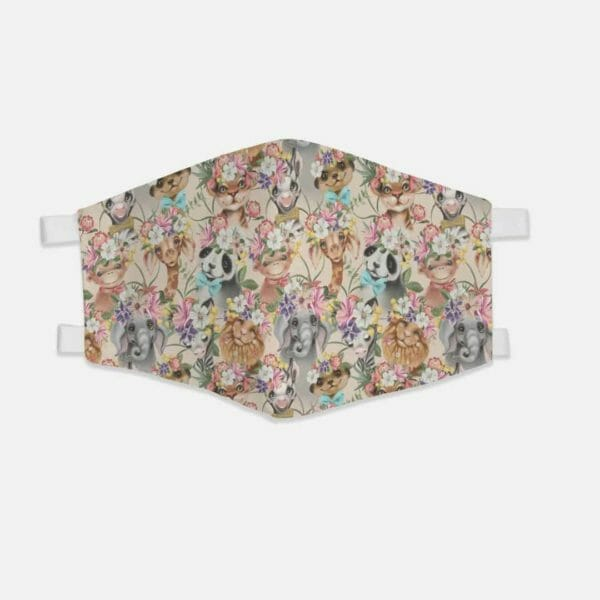 JW Face Mask   Cute Animals in Paradise Pattern Fabric Face Mask JW ORG, jw org, jw ministry, jw accessories - JustArtisan - JW Printable Gifts -