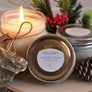Homemade Candles, Mason Jar Candle, Mothers Day Gift, Gift for Mom, Pine Candle, Spring Decor - JustArtisan - Little Gifts of Grace -