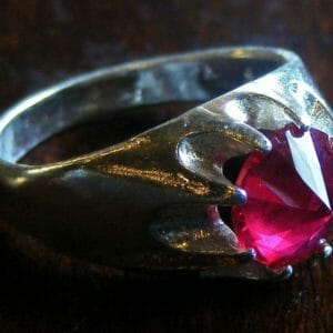 Glass cutter ruby and sterling ring. - JustArtisan - Mat's Machinations -