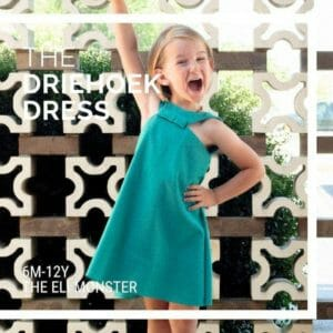 Girls Sundress PDF Sewing Pattern with bow-The Driehoek Dress - JustArtisan - The Eli Monster -