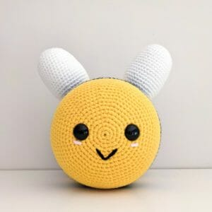 Giant crochet bee plush toy - JustArtisan - Two Bobs In A Pod - Handmade