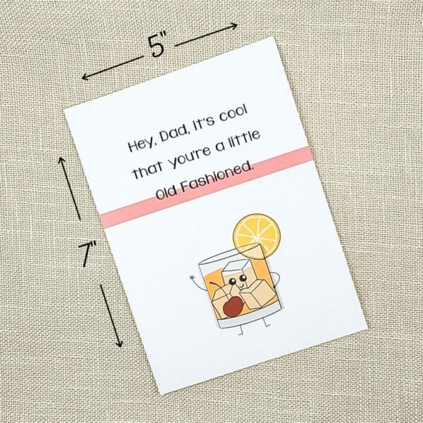 Funny Old Fashioned Greeting Card For Dad - JustArtisan - Hello Mosswood - Handmade