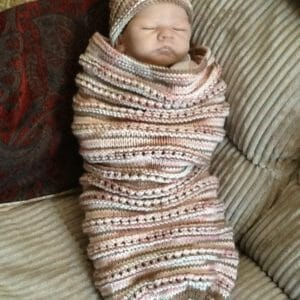 FREE SHIPPING HAND KNITTED BABY GIRL COCOON AND HAT - JustArtisan - The Corner Niche Design -