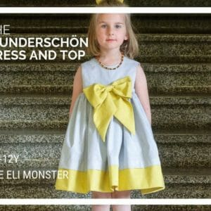 Dress and Top PDF Sewing Pattern, The Wunderschön Complete Set, Sizes 6mo to 12 - JustArtisan - The Eli Monster -