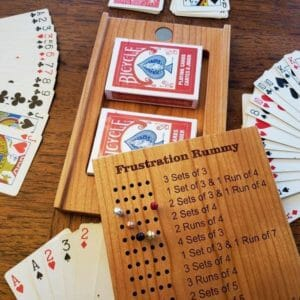 Deluxe - Travel Frustration Rummy Board - JustArtisan - Unique Wood Products -