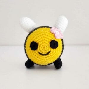 Crochet bee plush baby toy - JustArtisan - Two Bobs In A Pod - Handmade