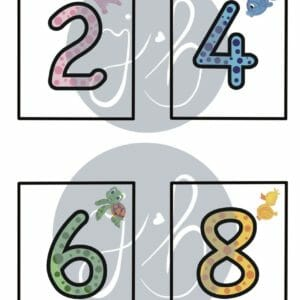 Counting by 2's, 5's and 10's digital downloadable print - JustArtisan - JenniBeeOriginals -