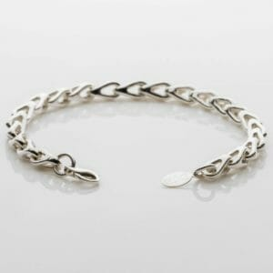 Chunky silver chain bracelet Handcrafted Strong Sterling Silver Sash Bracelet .925 Solid 11 X 6 mm wide links. Unique unisex artisan jewelry - JustArtisan - DJBSTUDIO - Handmade