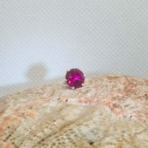 Bright red ruby tie tack - JustArtisan - Mat's Machinations -