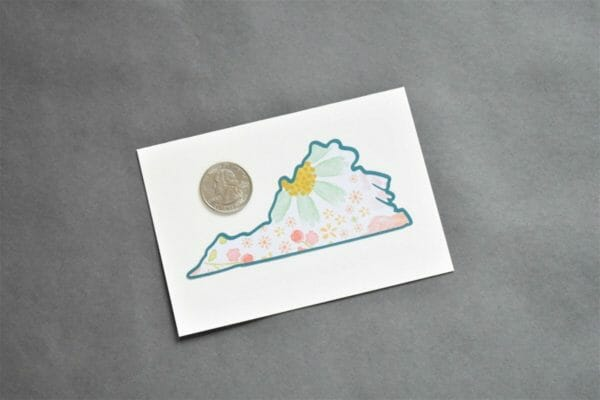 Botanical Daisy Floral Virginia Note card Set, Stationery Set - JustArtisan - Queen B Papercrafts -