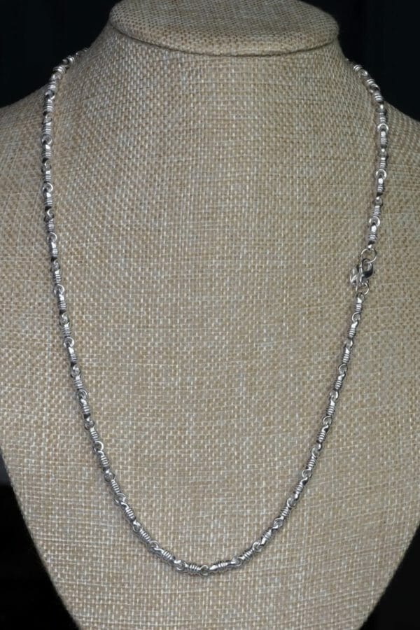 Awesome Handcrafted Strong Sterling Silver Swivel Necklace . 925 Solid 12 X 5 mm wide links. Unique unisex artisan gift chain. - JustArtisan - DJBSTUDIO - Handmade