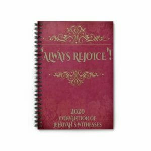 Always Rejoice Convention JW 2020 Spiral Notebook Jehovah's Witnesses JW Gift Velvet Style - JustArtisan - JW Printable Gifts -