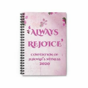 Always Rejoice Convention JW 2020 Spiral Notebook Jehovah's Witnesses JW Gift Pink - JustArtisan - JW Printable Gifts -