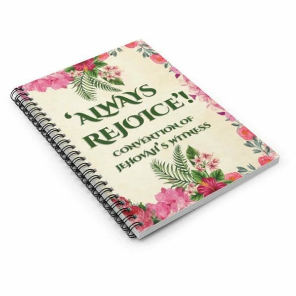 Always Rejoice Convention JW 2020 Spiral Notebook Jehovah's Witnesses JW Gift Green - JustArtisan - JW Printable Gifts -