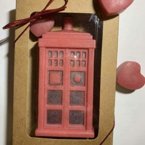 All Natural Handmade Soap - Dr. Who Phone Booth - JustArtisan - Wise Lyon Soapworks -
