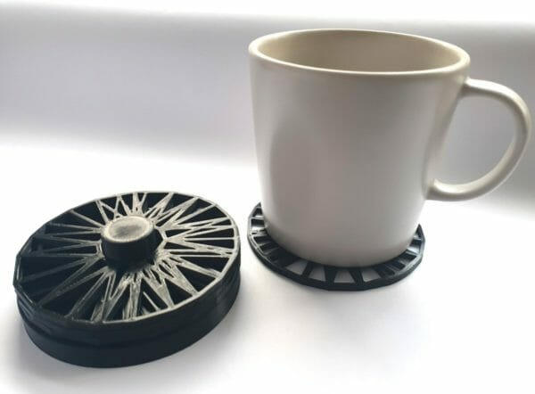 3D Printed Geometric Mesh Coasters With Stand - set of four with stand - JustArtisan - Jeji Moore -